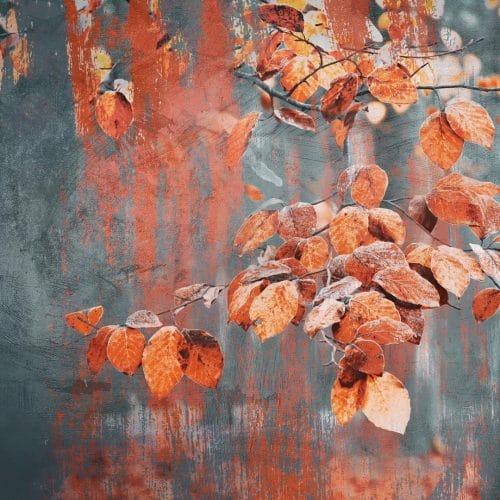 Painterly autumn leaves